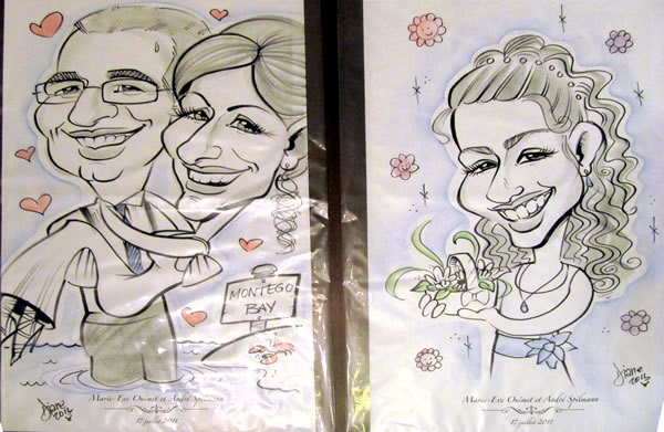 Our caricaturists offer in-house service for your parties and events, as well as creating portraits or caricatures from printed photos...great as gifts, from Montreal's Pret-A-Party